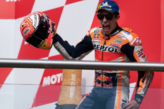 Podium Marquez Di Gelaran MotoGP Argentina 2019 1