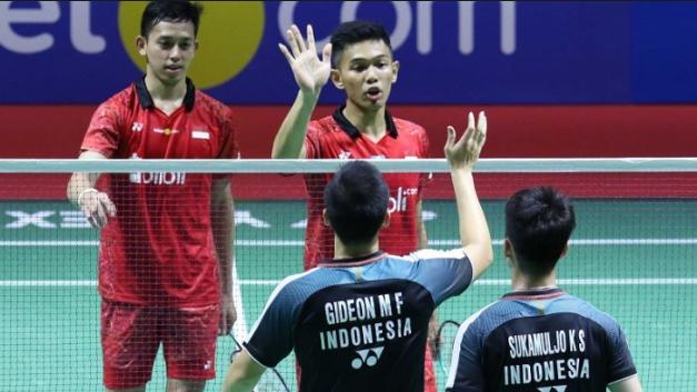 Squad bulu tangkis Indonesia 2019
