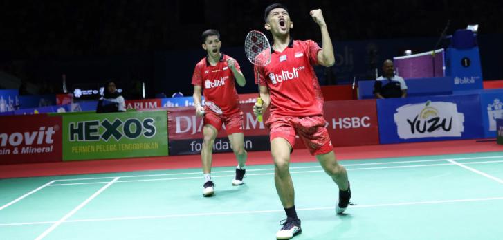 Squad bulu tangkis Indonesia