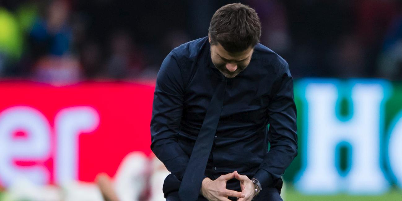 Mauricio Pochettino tears