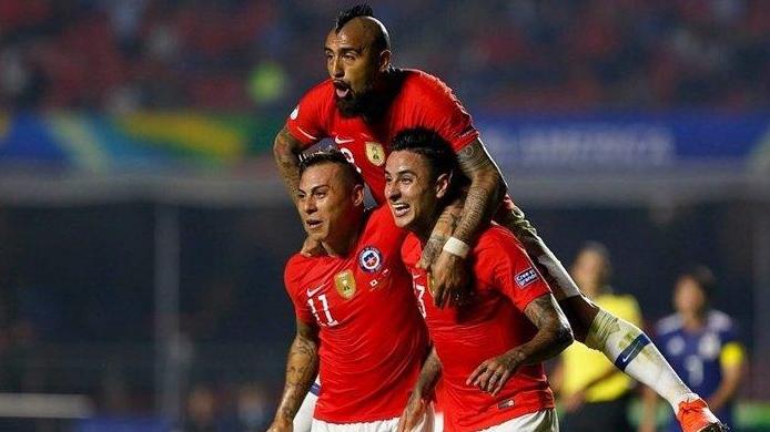 Chile Tumbangkan Jepang 4 Gol Tanpa Balas
