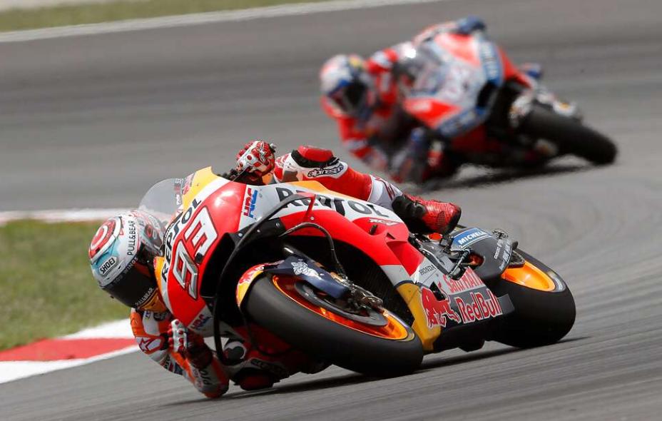 Marquez Di Atas Angin, 4 Rider Papan Atas Terjatuh!