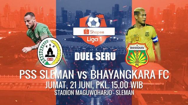 Prediksi Susunan Pemain PSS Sleman Vs Bhayangkara FC