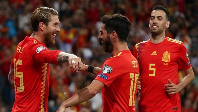 Spanyol menang 3-0 atas swedia