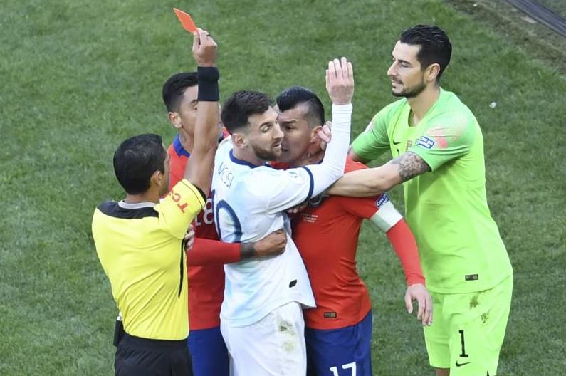 Hasil Copa America 2019 Lionel Messi Kartu Merah, Argentina Sukses Kunci Peringkat Ketiga