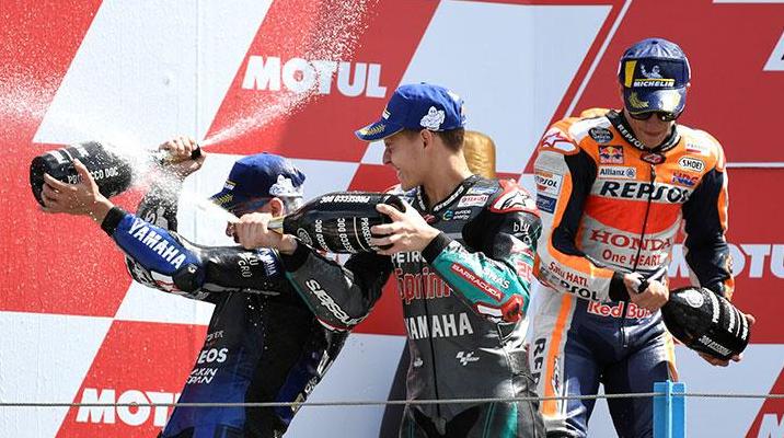Hasil MotoGP Assen Vinales Kalahkan Baby Alien, Lagi-lagi Valentino Gagal Finish