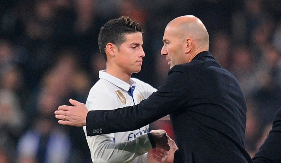 Zidane and James