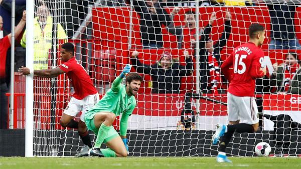 Rashford sukses membobol gawang Liverpool