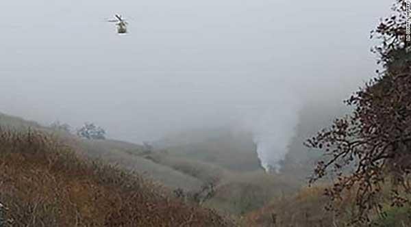 Lokasi kecelakaan helikopter Kobe Bryant