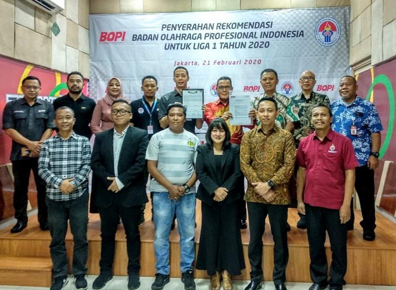 Surat Rekomendasi Liga 1 2020 Diberikan Pada PT LIB