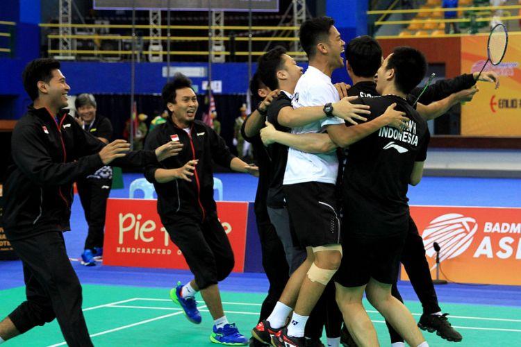kemenangan tim putra Indonesia