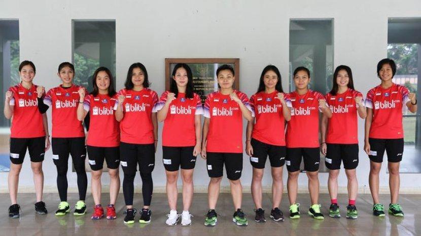 tim wanita Indonesia di Kejuaraan Asia 2020