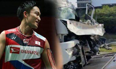 Kento Momota alami kecelakaan