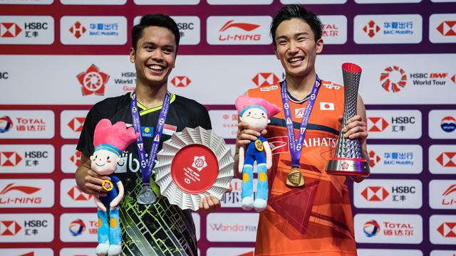Kento Momota dan anthony ginting