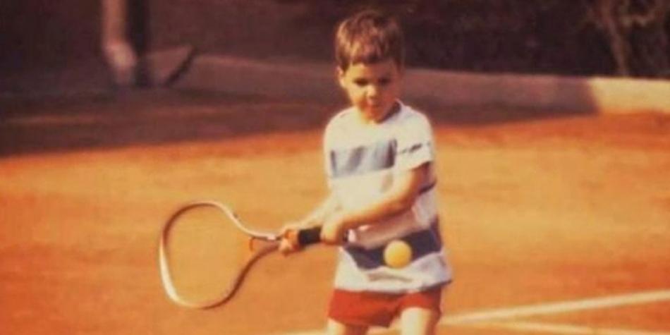 Roger Federer semasa kecil