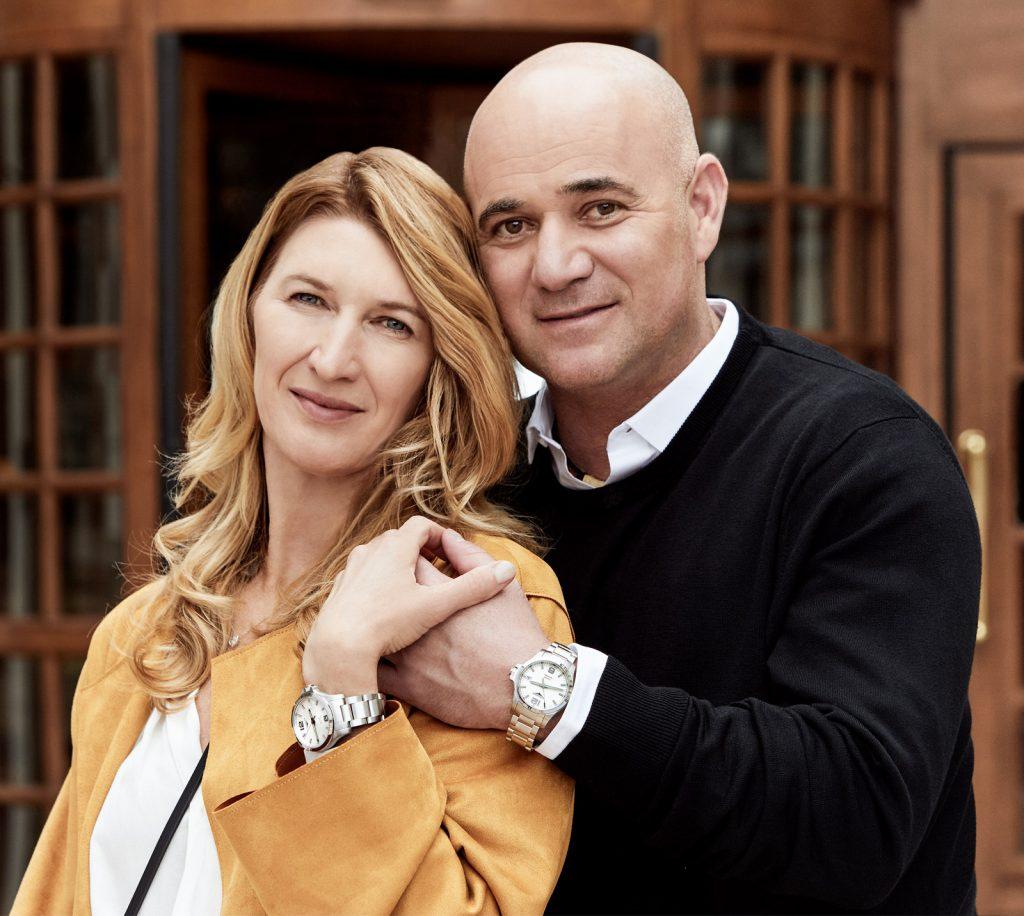 Andrea Agassi dan istri