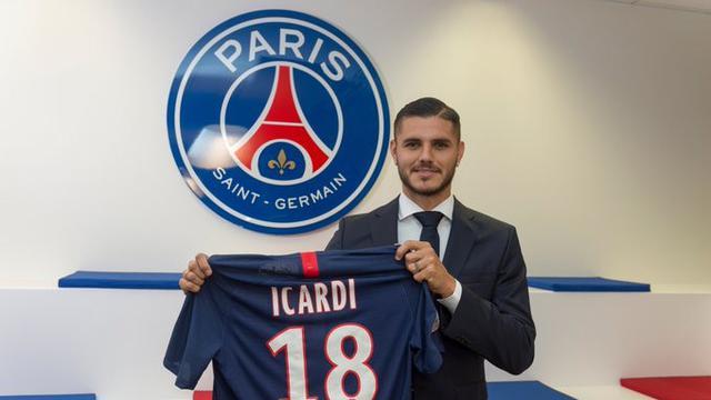 Mauro Icardi di Paris Saint Germain