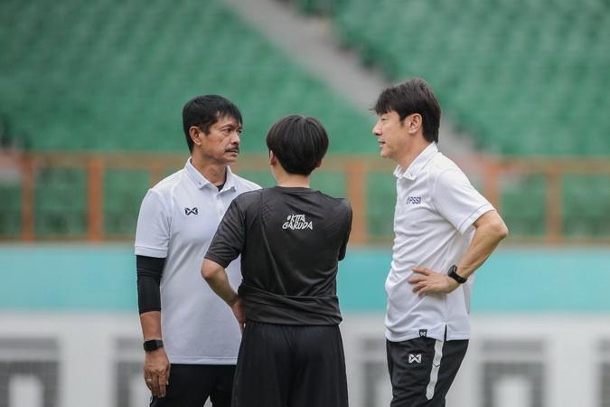 Shin Tae Yong dan Indra sjafri