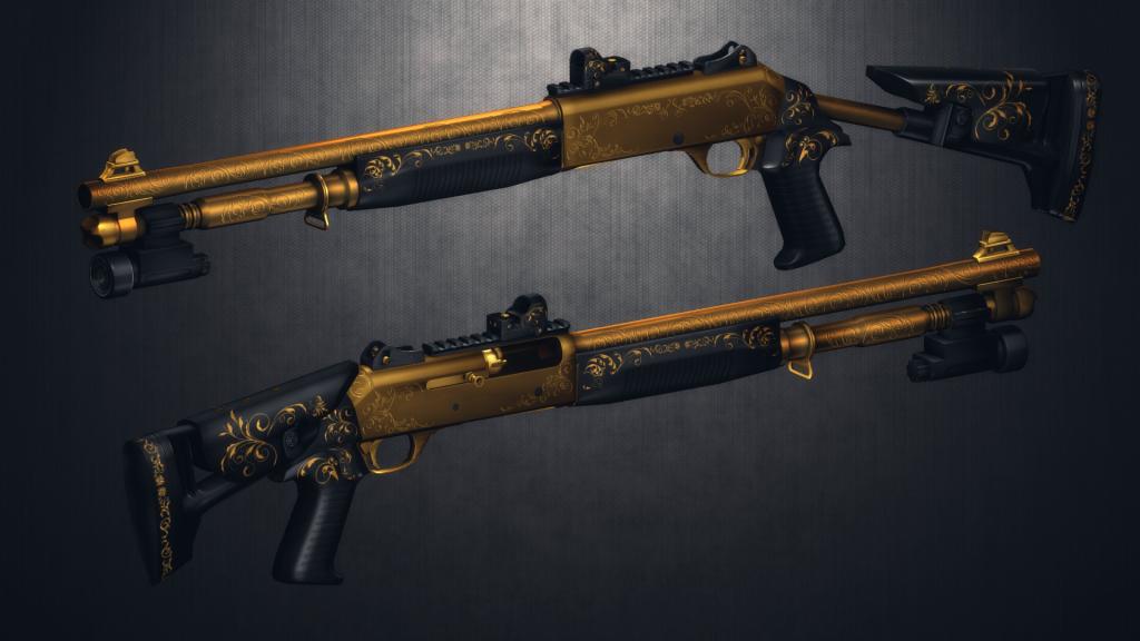 Skin M1014 Metal Free Fire