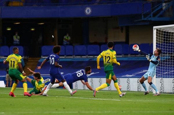 Berkat Giroud Chelsea Menangkan Laga Melawan Norwich