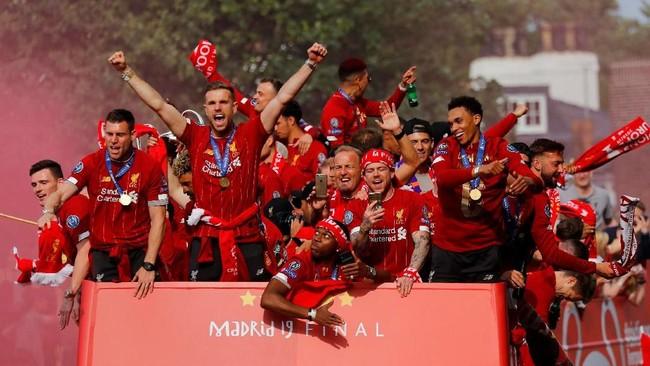Liverpool Rayakan juara Liga Inggris 2019-2020