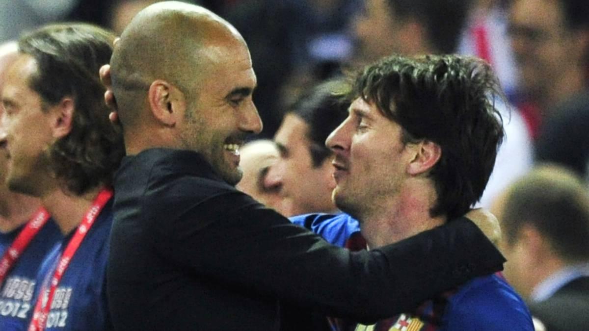 Lionel Messi dan pep guardiola saat di Barca