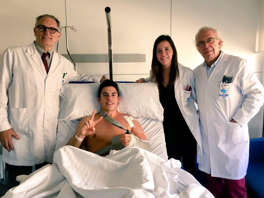 Marc Marquez jalani perawatan