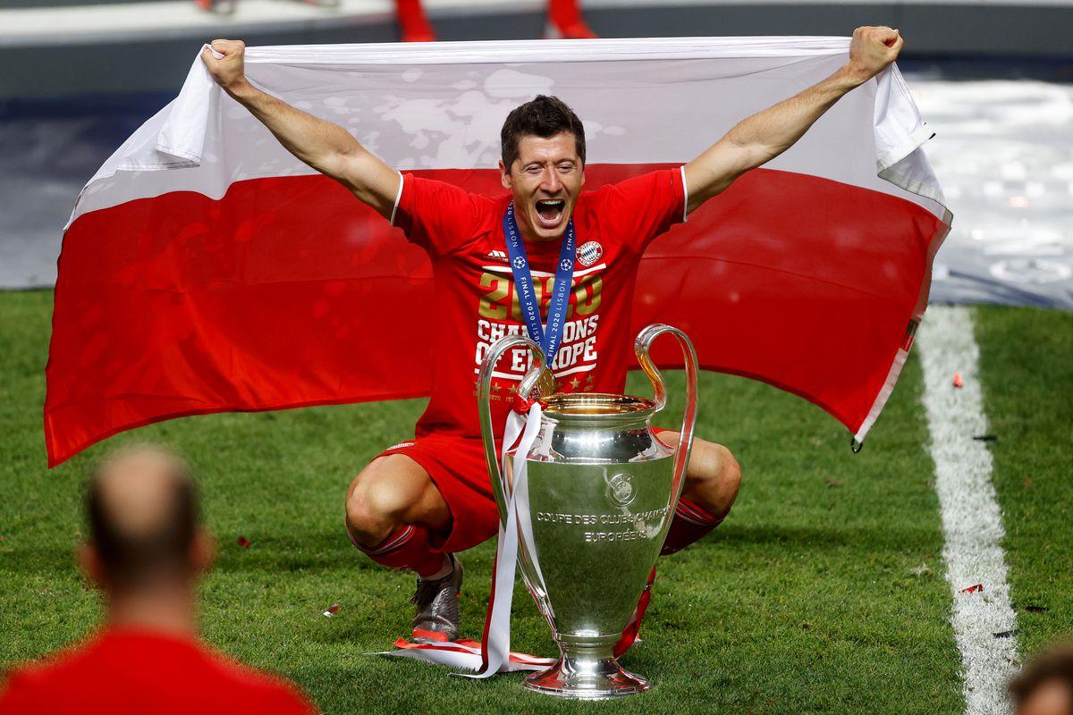 Robert Lewandowski, top skor liga champions