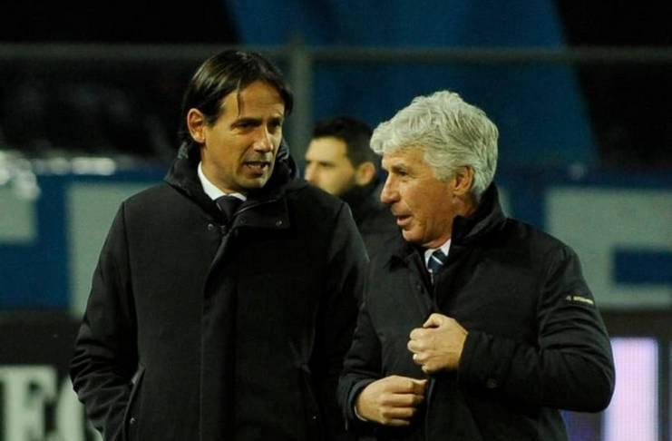 Simone Inzaghi dan Gian Piero Gasperini