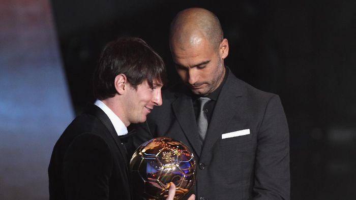 pep guardiola dan Lionel Messi