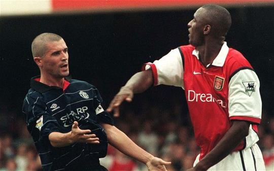Roy Keane dan Patrick Vieira
