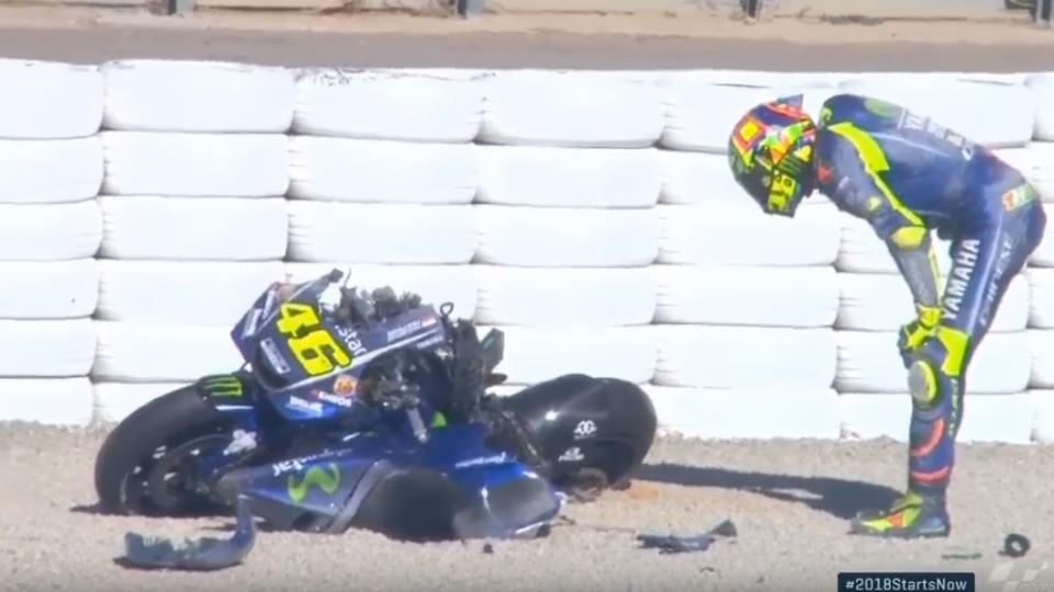 Valentino Rossi gagal di MotoGp Catalunya 2020
