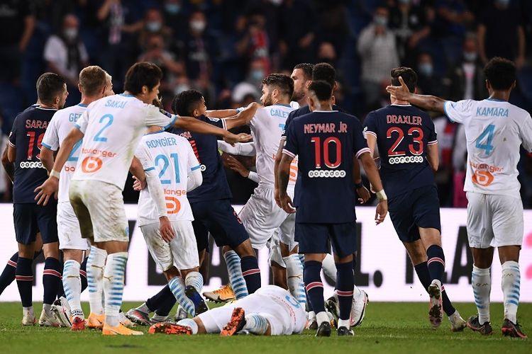 insiden di PSG vs Olympique Marseille