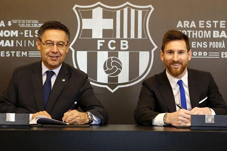 kontrak Lionel Messi di Barcelona