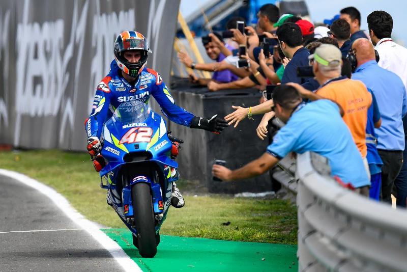 Alex Rins jadi Juara motoGp Aragon