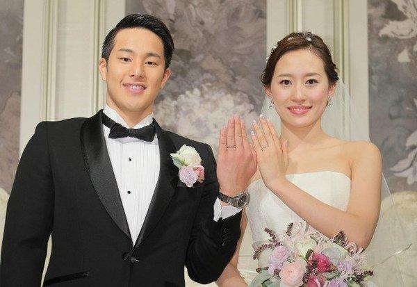 Daiya Seto dan istri