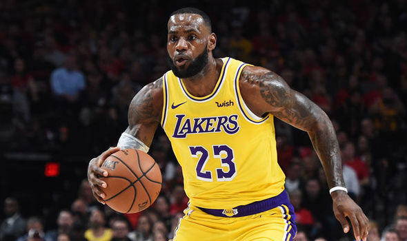LeBron James di Los Angeles Lakers