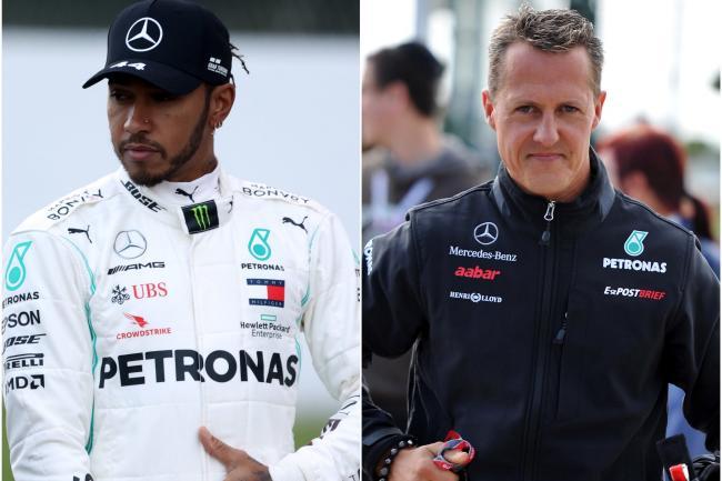 Lewis Hamilton dan Michael Schumacher