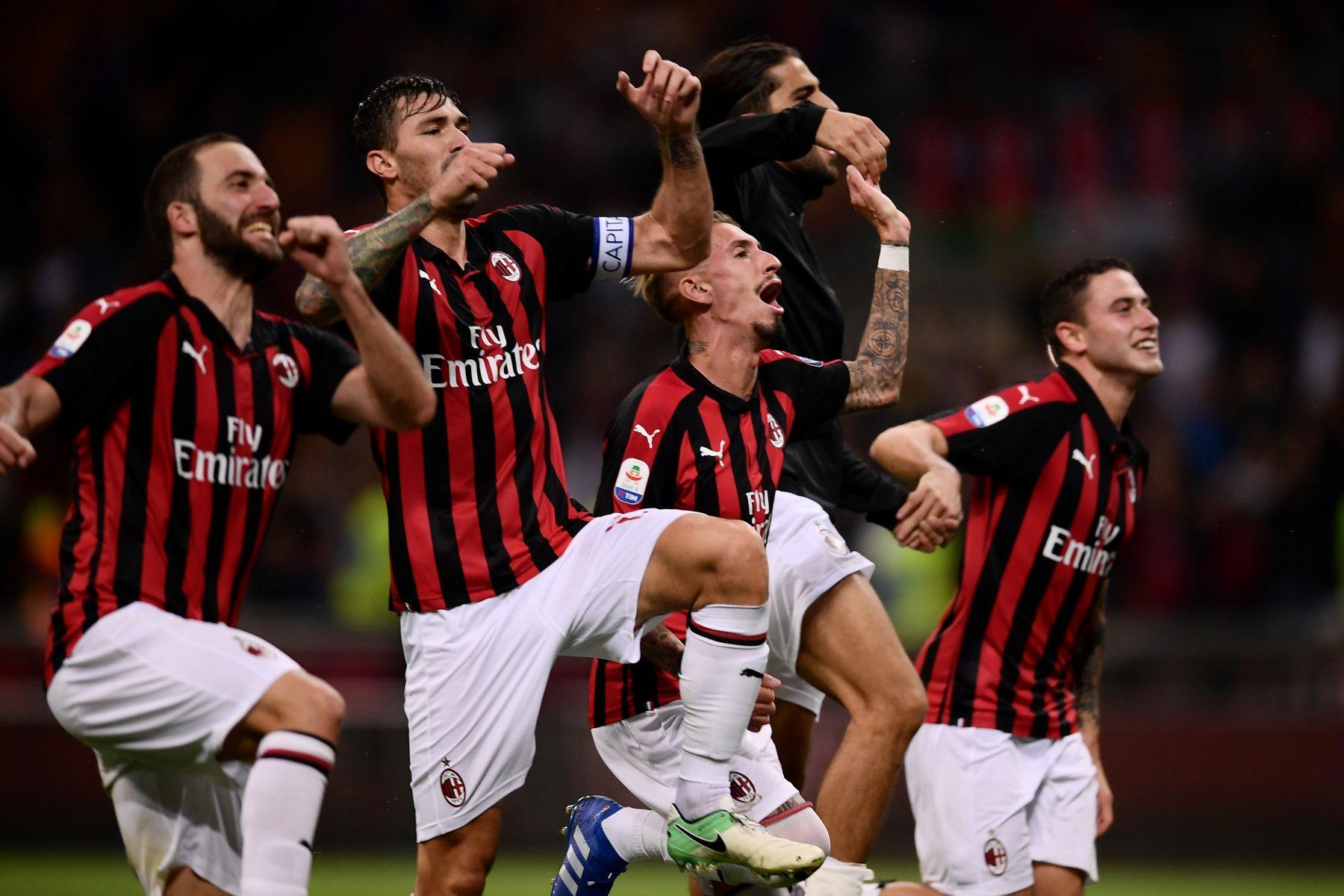 laga AC Milan vs AS Roma