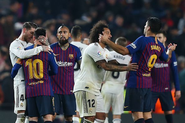 pemain Real Madrid vs Barcelona