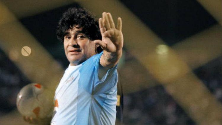 Diego Maradona kapten timnas Argentina