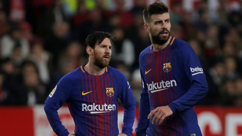 Gerard Pique dan Lionel Messi