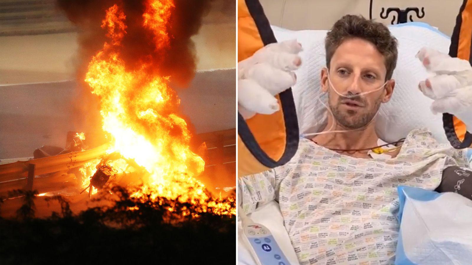 Romain Grosjean cedera
