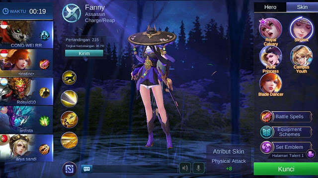 cheat skin Mobile Legend