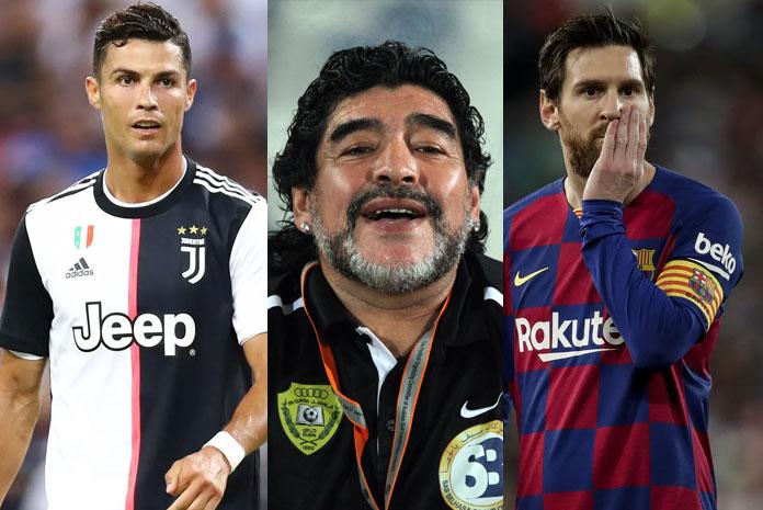 duka messi dan Ronaldo pada Maradona