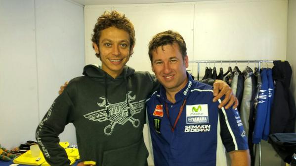 Alex Briggs dan Valentino Rossi