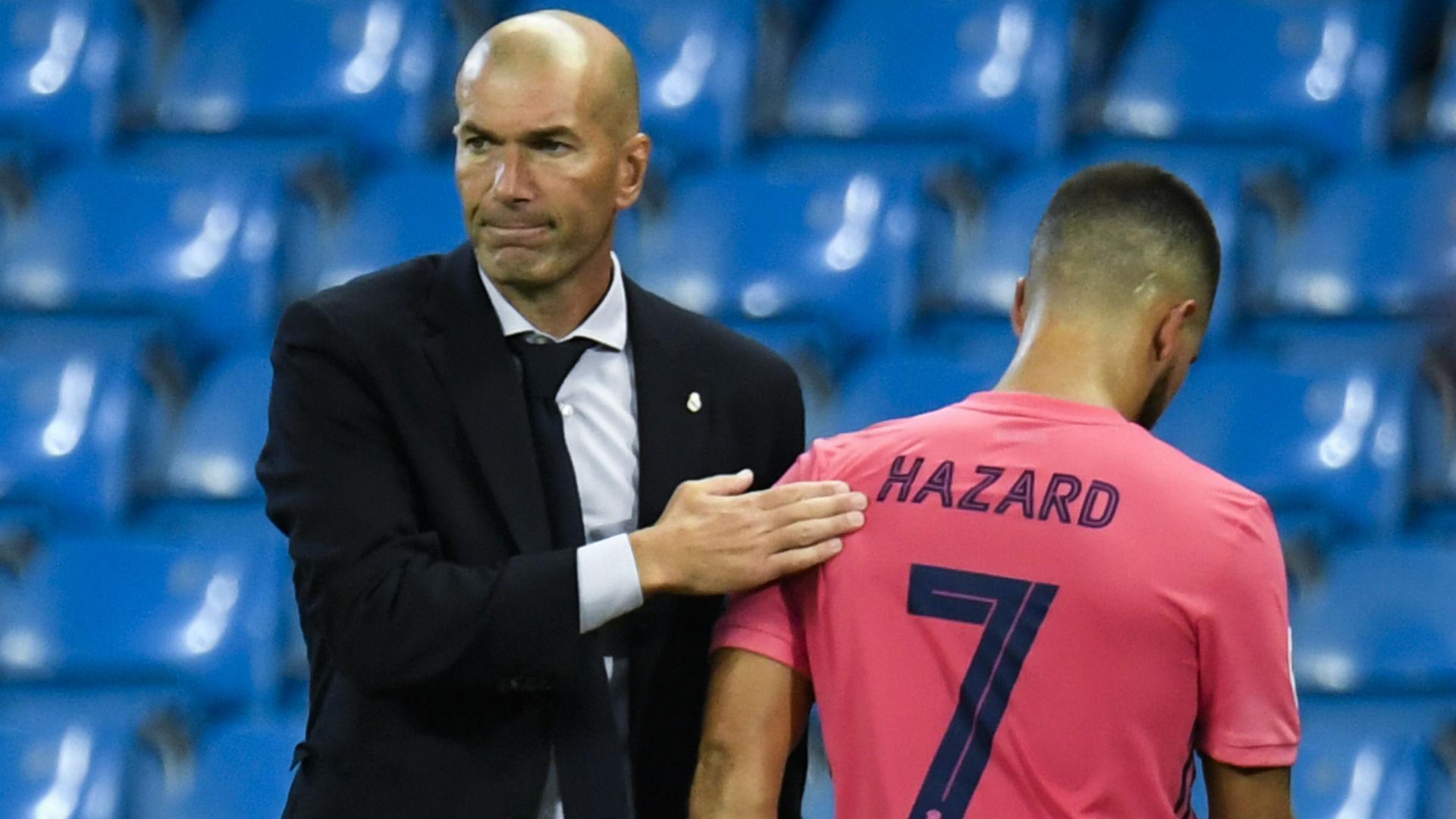 Eden Hazard dan Zinedine Zidane
