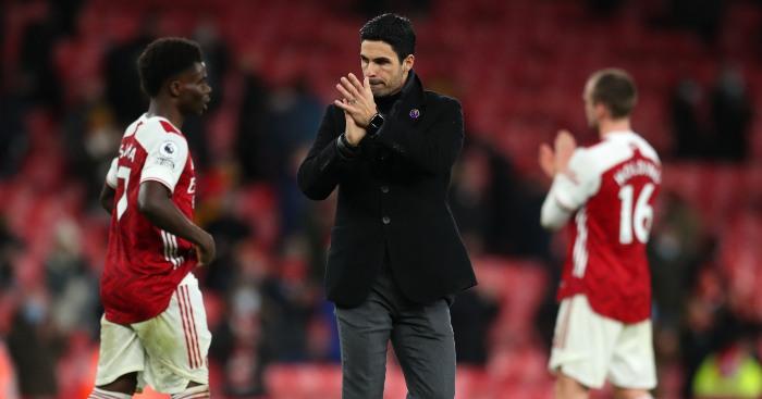 Mikel Arteta dan pemain Arsenal