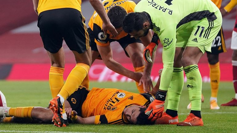 Raul Jimenez cedera