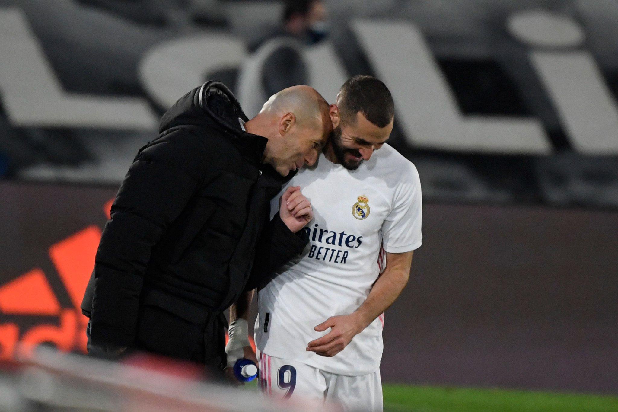 Zinedine Zidane dan Karim Benzema